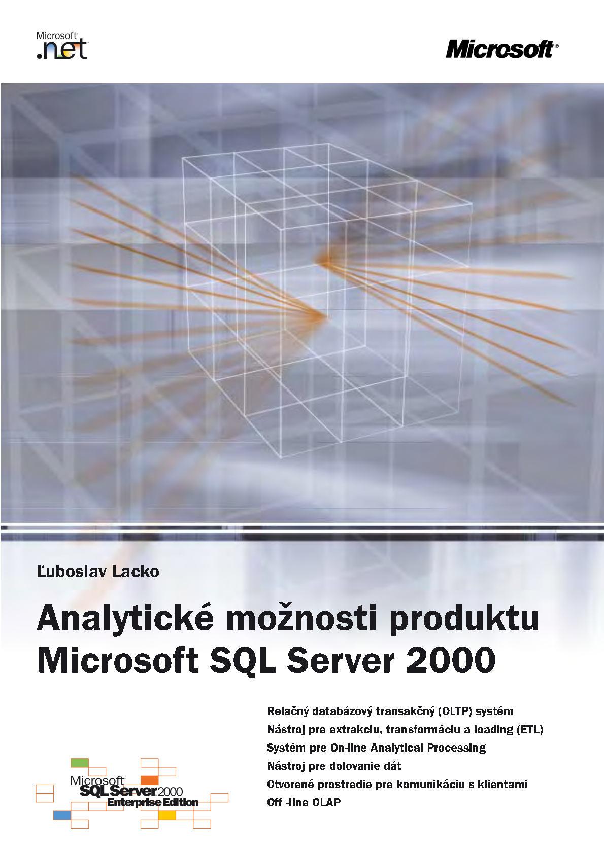 Analytické možnosti SQL Serveru 2000
