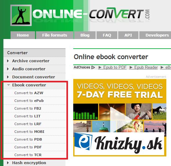 on-line nástroj online-convert
