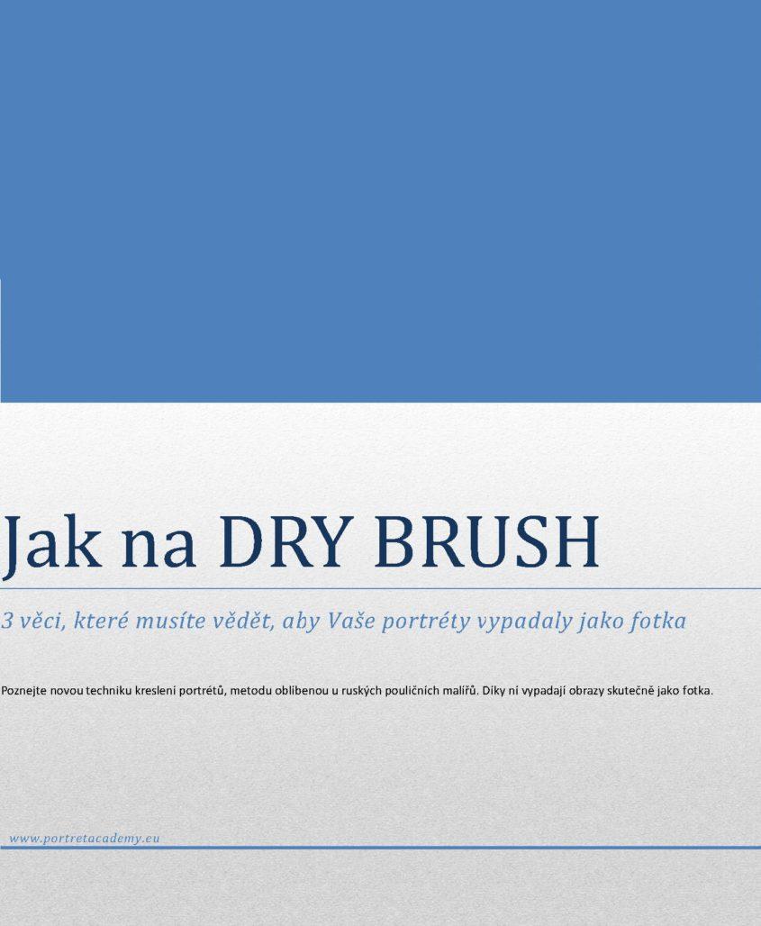 Jak na DRY BRUSH