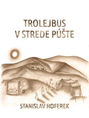 trolejbus v strede puste obal