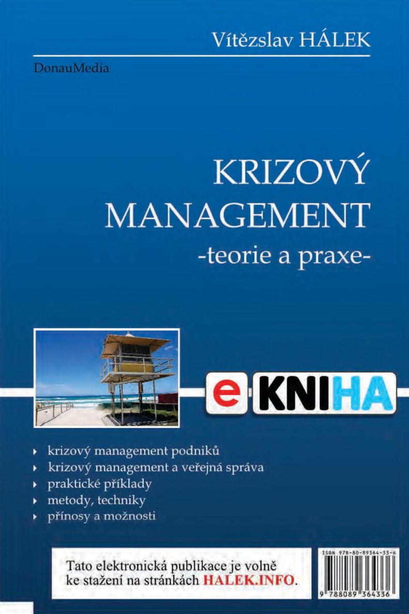 HALEK.INFO e kniha krizovy management teorie a praxe