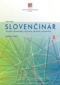 Slovenčinár 1/2014