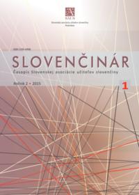 Slovenčinár 1/2015