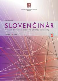 Slovenčinár 1/2016