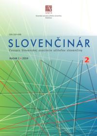 Slovenčinár 2/2014