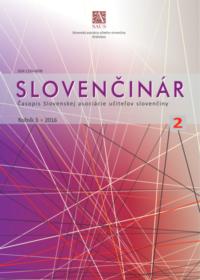 Slovenčinár 2/2016