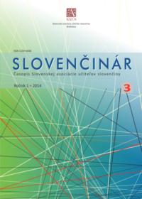 Slovenčinár 3/2014