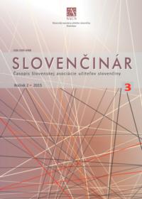 Slovenčinár 3/2015