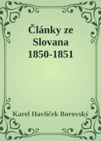 Články ze Slovana 1850-1851