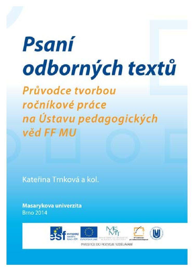 Psani odbornych textu pdf
