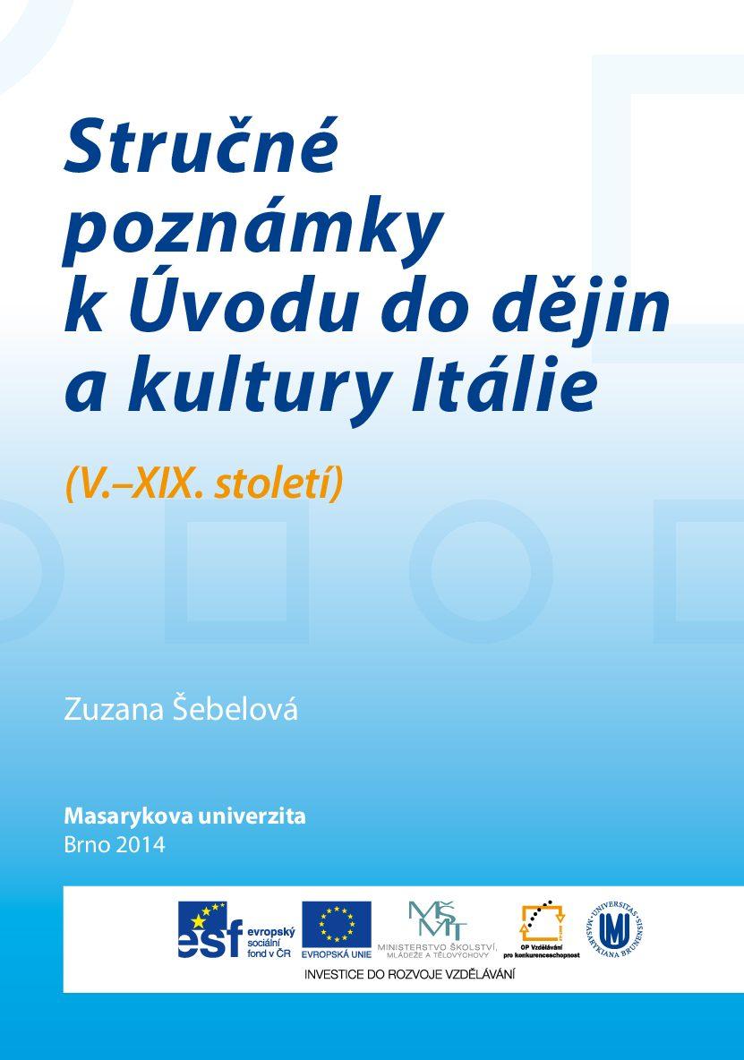 Strucne poznamky k Uvodu do dejin a kultury Italie pdf