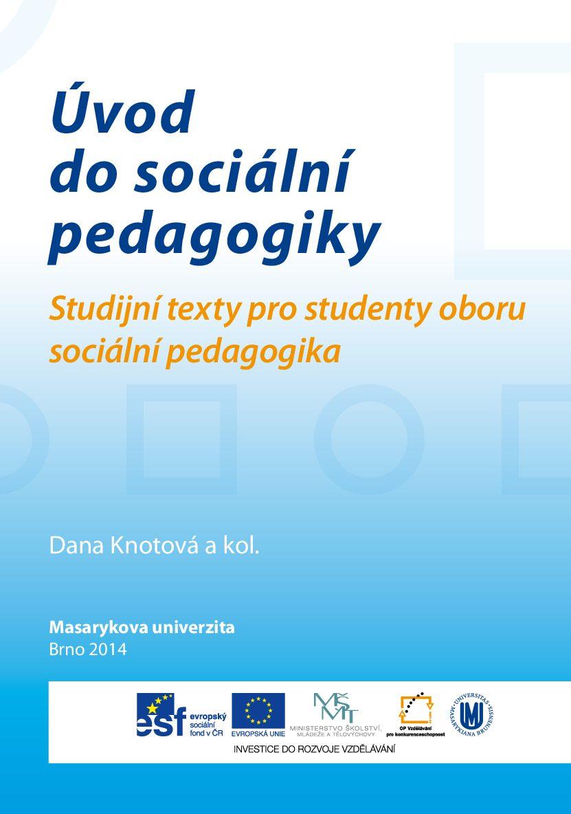 Úvod do sociální pedagogiky.