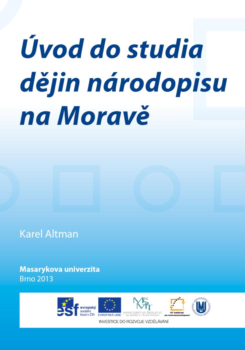 Uvod do studia dejin narodopisu na Morave