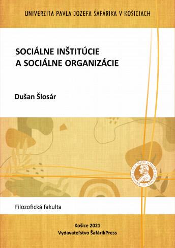 socialne institucie a socialne organizacie